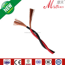 Factory direct sale houes wiring stranded electric twisted pair flexible wire 2x4mm2 with high quality