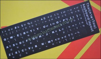 Thai Learning Keyboard Layout Sticker For Laptop Computer Keyboard Part -  Buy Thai Learning Keyboard Layout Sticker For Laptop Computer Keyboard