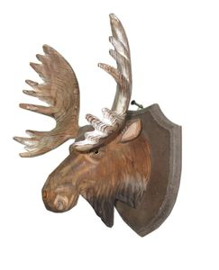 Exquisite artificial wood deer head for wall decoration/wood decoration
