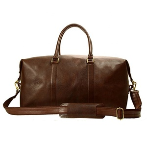 Shenzhen factory custom large capacity duffle travel vintage men leather bags