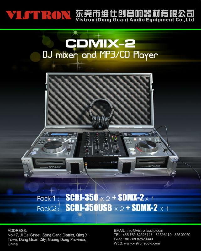 Cdmix-2 China Design Professional Dj Mixer & Mp3 /cd Player Pack ...
