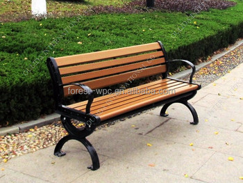 Garden Metal Swing Seat Chinese Garden Seats Chinese Composite Wood Garden  Seat