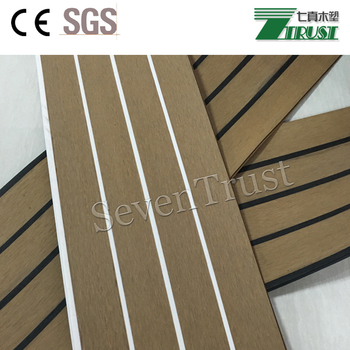 Pvc Teak Flooring Synthetic Teak Used For Outdoor Boat