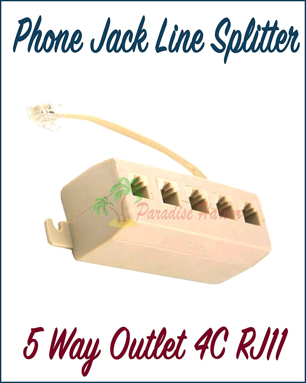 Cheap Phone Jack Outlet Find Deals On Line At Biscuit Wiring Get Quotations Paradisse Harbor 5 Way 4c Rj11 Telephone Modular Splitter Adapter Beige