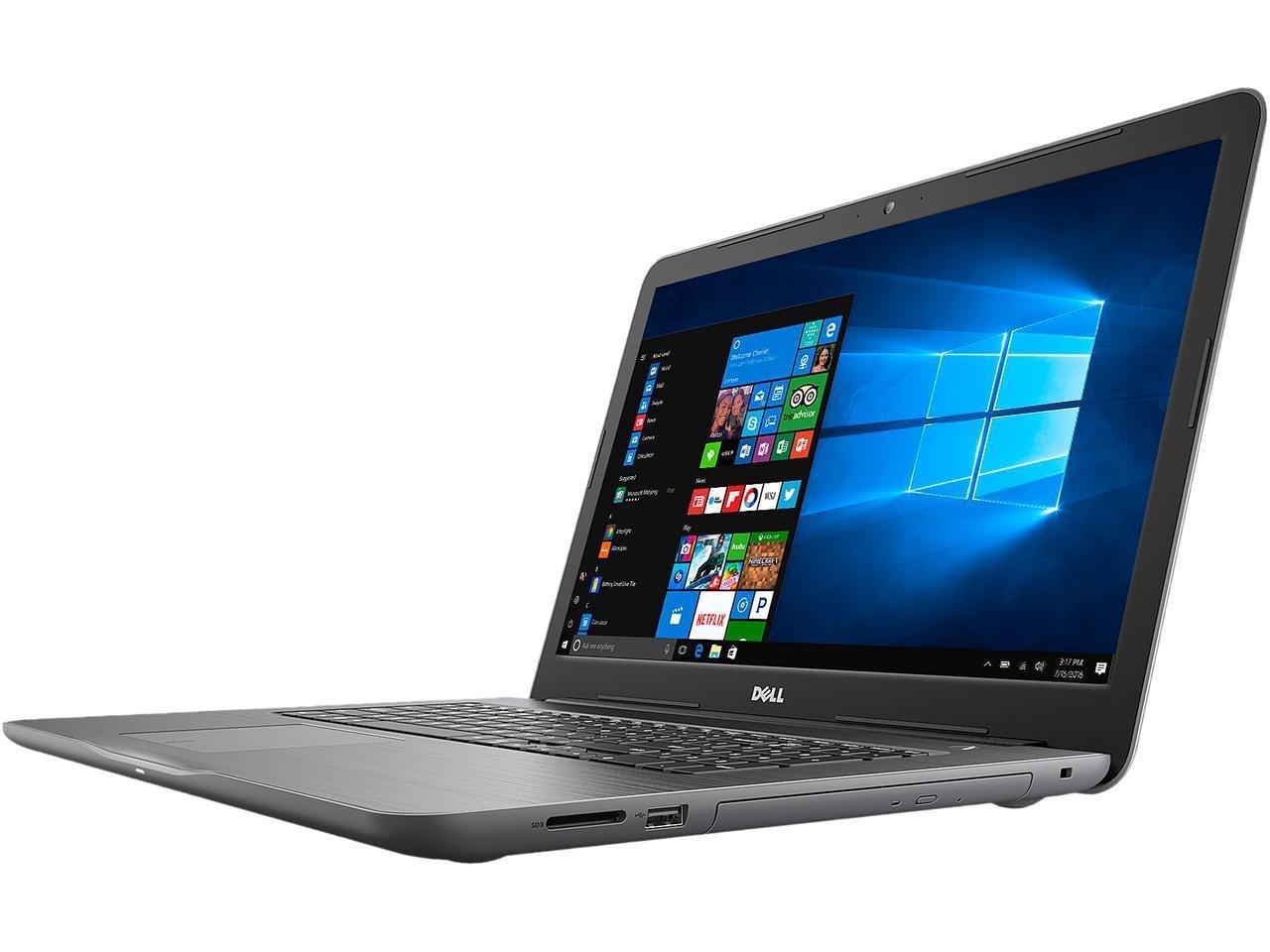 2018 Dell Inspiron 5000 17.3-inch HD+ Laptop PC, Intel Dual Core i5-7200U, 8GB DDR4 RAM, 1TB HDD, 802.11ac, Bluetooth, DVD Writer, Backlit Keyboard, Windows 10