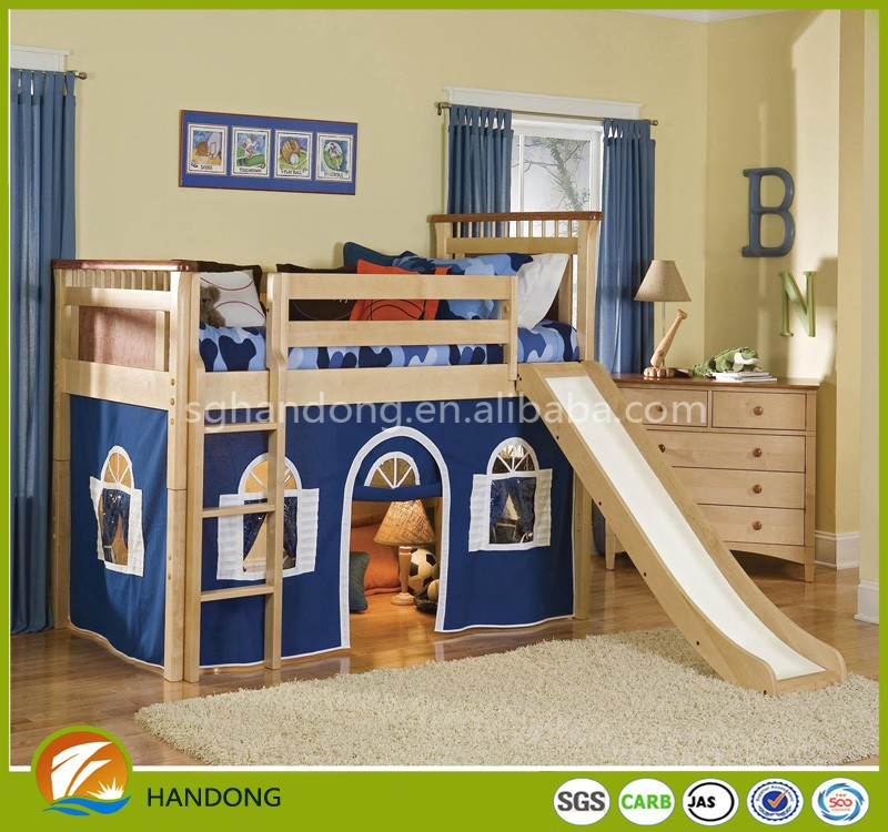Soild Wood Unique Popular Safty Bunk Bed Baby Bed With