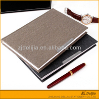 Modern design cheap simple office fabric cover notebook