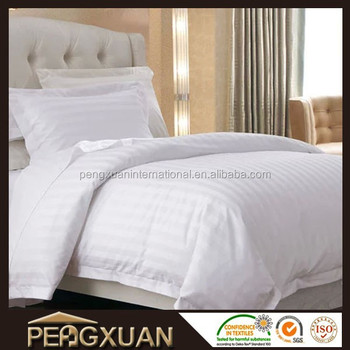 hotel bed sheets hotel beddings satin strip white bedding sets