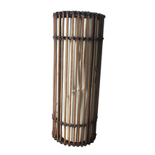 Cylindrical bamboo chandelier interior decoration lamp cover,half transparent bamboo lamp shade