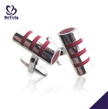 Shiny new chic columnar red stripe party cufflink ail express