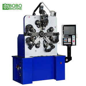 Rhombu stainless steel wire thread insert heli spring coil forming machine
