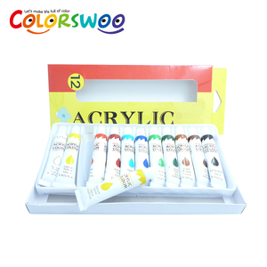 Hot Sale 12 Colors 12ml Aluminum Tube Packing Acrylic Paint