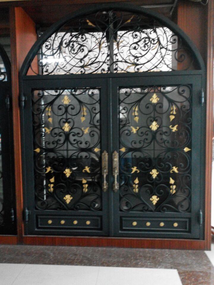 Puerta de hierro forjado puerta precios puertas for Puertas de hierro forjado para casas