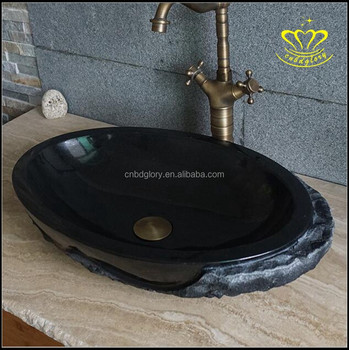 Supply China Black Marble Granite Lavabo Washbasin Sink For Sale