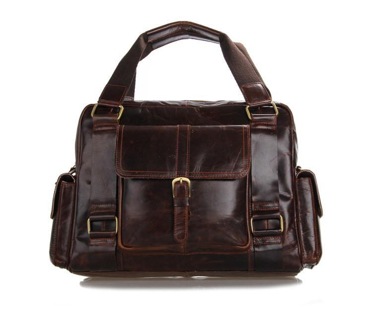Get Quotations · Factory Directly 100% Genuine Leather J.M.D Vintage New  Men s Coffee Handbags Messenger Bags Free Shipping 28146f2e85a09