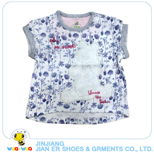 Breathable soft 0-24M casual style floral printing children girls t-shirt