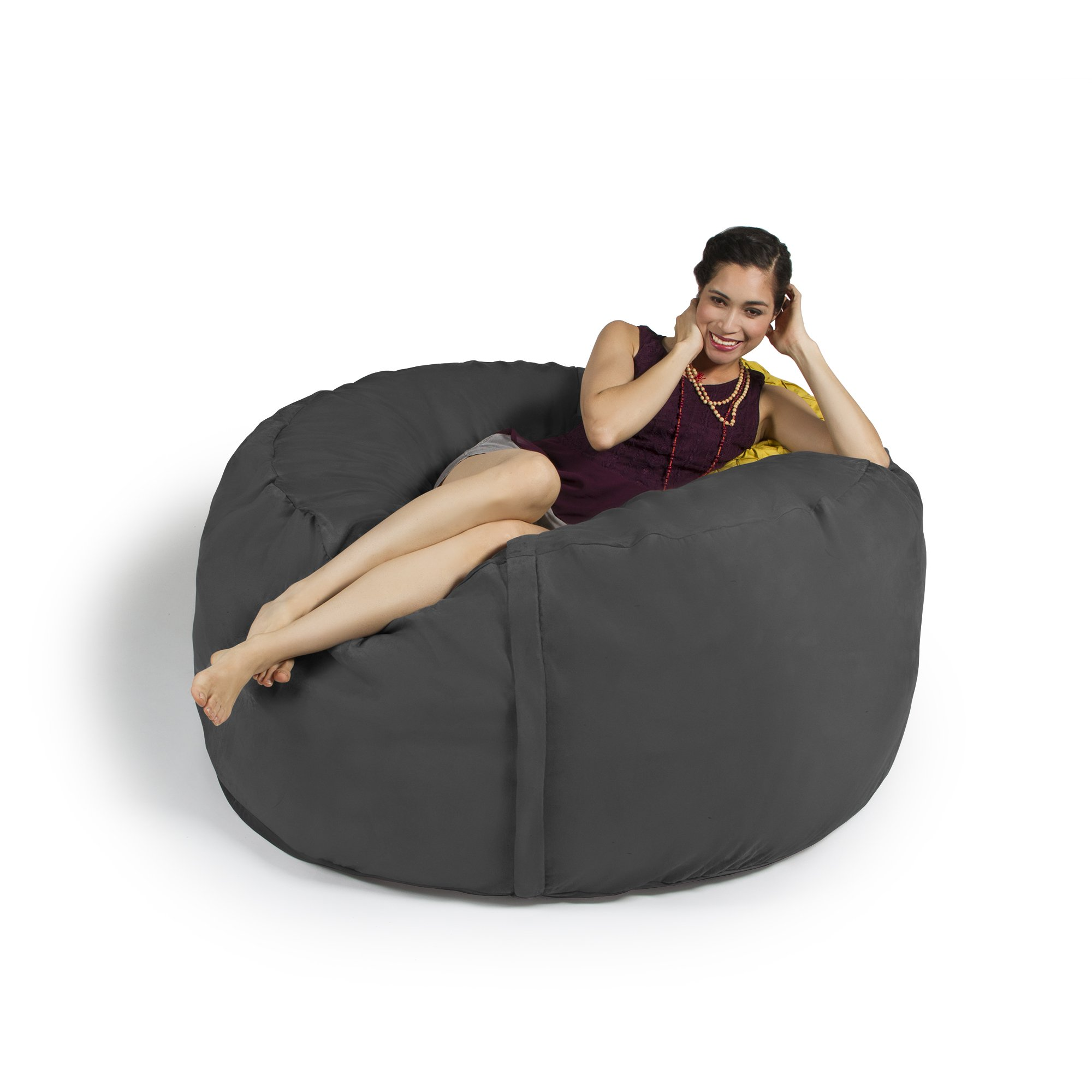 Get Quotations · Jaxx 5 Foot Saxx   Big Bean Bag Chair For Adults, Charcoal
