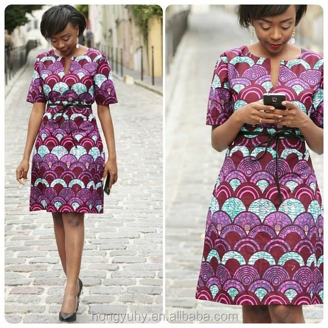 Fashion African Print Style Dress Patterns,Dashiki African Short ...