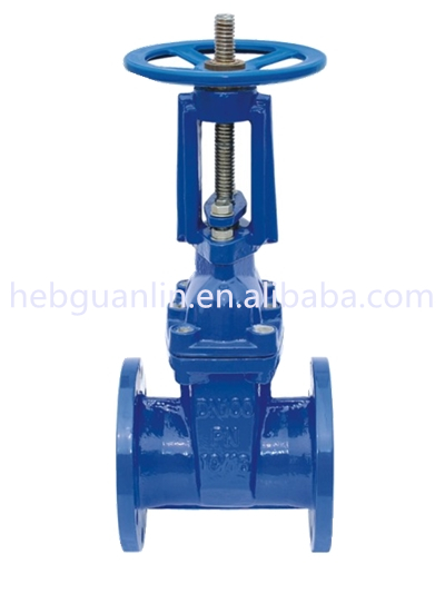 Cast Iron Long Rising Stem Resilient Seated Rubber Soft Seal Flange Gate Valve Z41X ZSZ45X