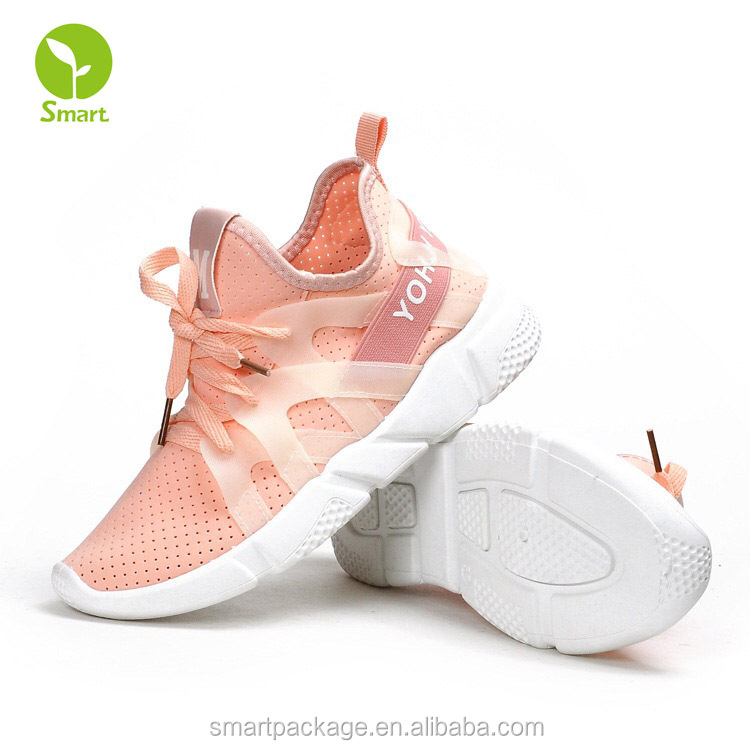 New products in China market women's pink athletic running shoes on sale