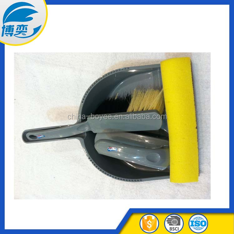 QUICKIE supplier plastic dustpan brush set with window squeegee and short brush