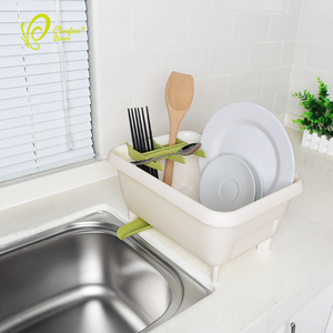 BPA Free Kitchen Dish Drying Rack Cutlery Holder Plastic Dish Drainer