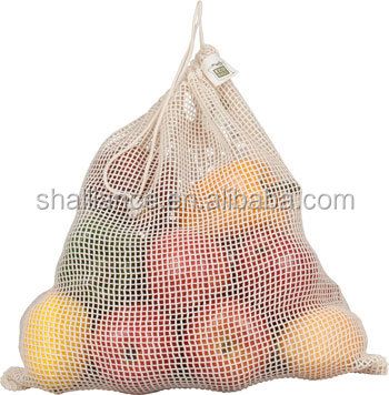 Natural Fruit Cotton Ditty Bag Shopping Drawstring Net Bag - Buy ...