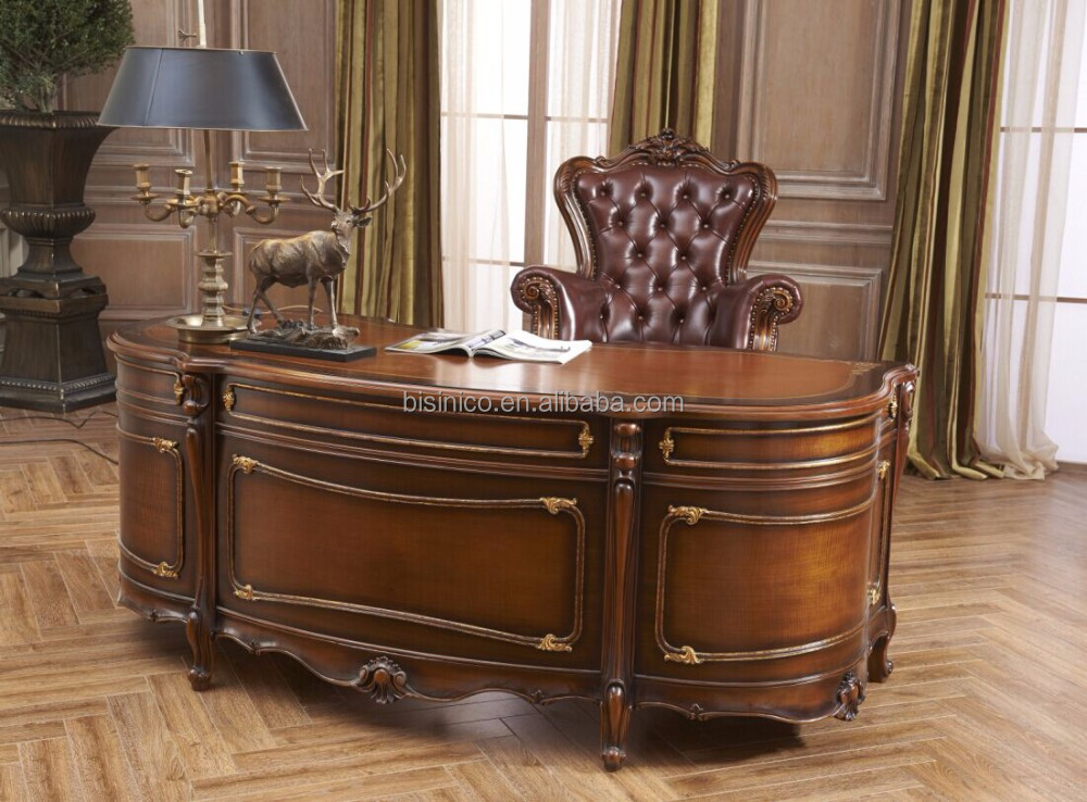 Charmant Baroque Style Luxury Executive Office Furniture/antique Hand Carved Tables  Chair Set/ Retro Home Office Furniture   Buy Baroque Style Office Furniture,Hand  ...