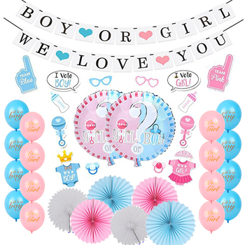 313173074 Wholesale BOY OR GIRL Banners Party Supplies Favor Kit Items Baby Shower  Decoration Set