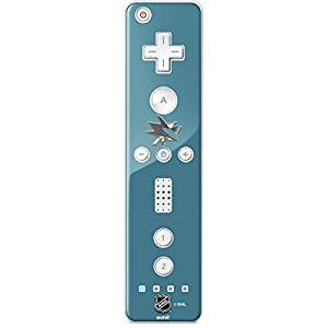 aef4abbcb8b NHL San Jose Sharks Wii Remote Controller Skin - San Jose Sharks Solid  Background Vinyl Decal