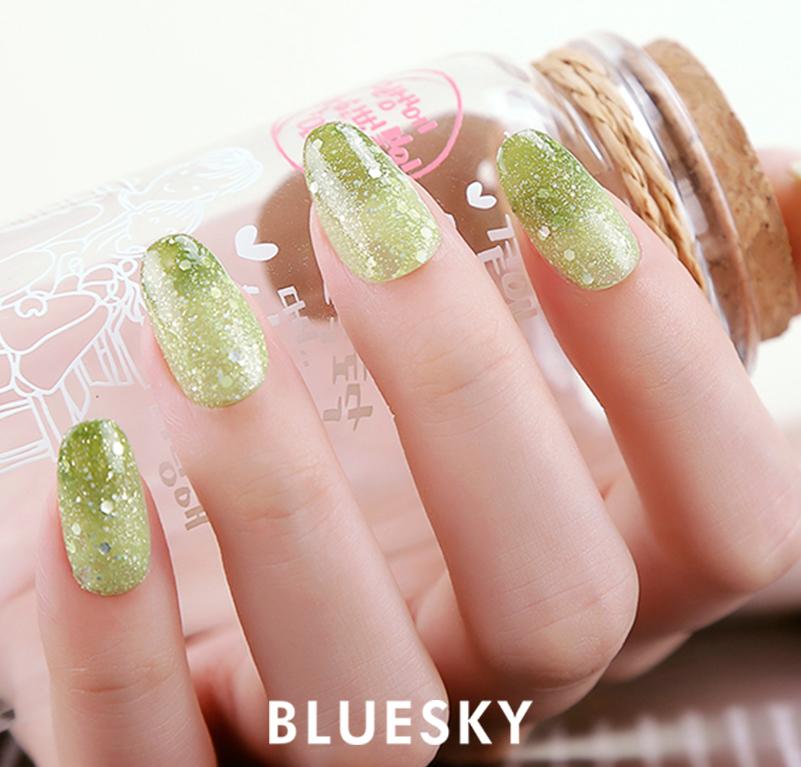 Bluesky famous mood uv gel temperature change color LED/UV gel nail ...