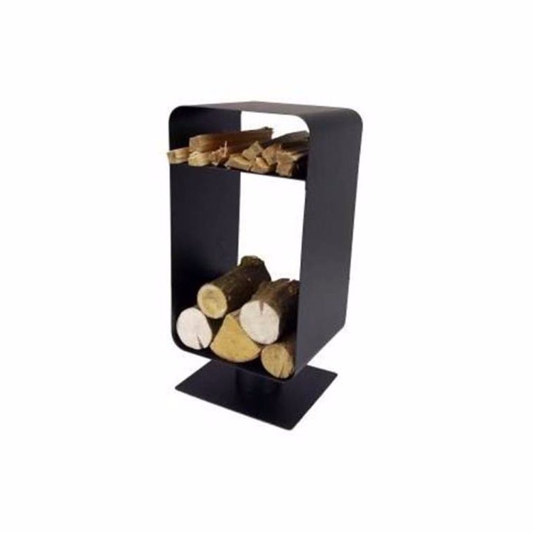 En fer forg bois de chauffage rack support de br leur chemin e bois de stock - Support pour couper du bois de chauffage ...