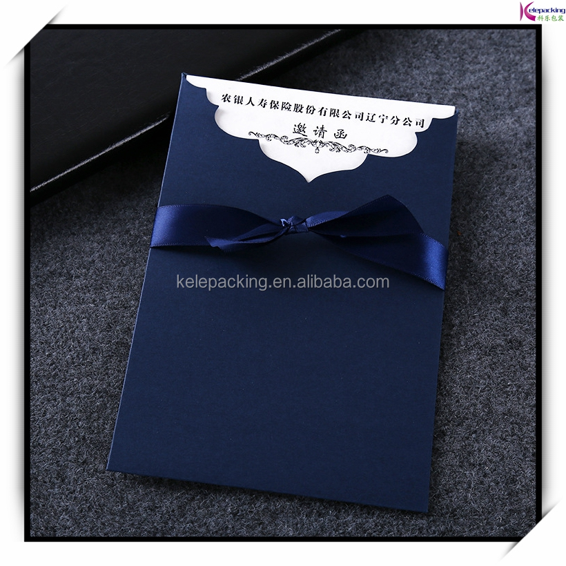 New design customized printing invitation letter cardboard envolope with line