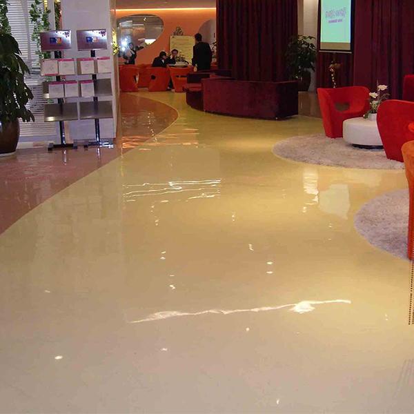 De alto brillo de pintura epoxi piso de concreto pulido - Pintura para pisos de cemento ...