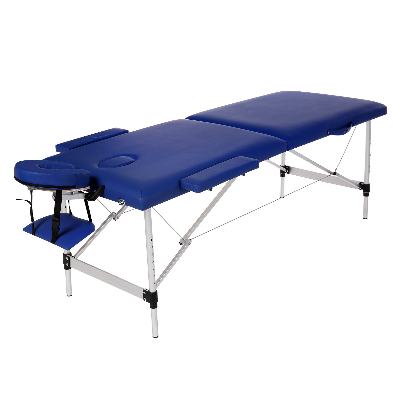 Homdox Portable Massage Table Two-fold with Aluminum Feet, Height Adjustable (71.8'' L 27.3'' W [24.2-31.6]'' H)