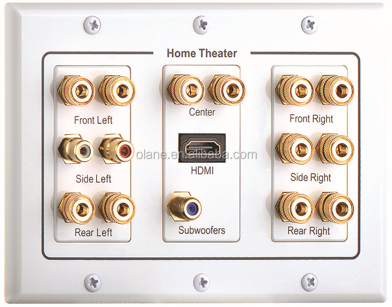 7 1 7 2 Channel Home Theatre Speaker Wall Plate With