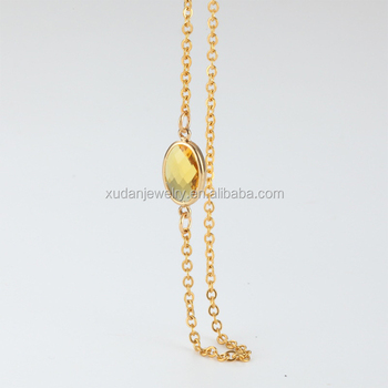 de0231721b3a6 925 Sterling Silver Italian Chain White Gold Plated Birthstone Choker Women  Necklace - Buy Heavy Gold Choker Necklace,Gold Plated Chunky Choker ...