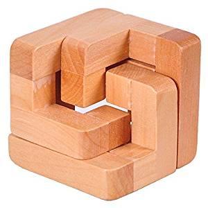 KINGOU 3D Wooden Interlocked Surround Lock Logic Puzzle Burr Puzzles Brain Teaser Intellectual Toy Magic Cube
