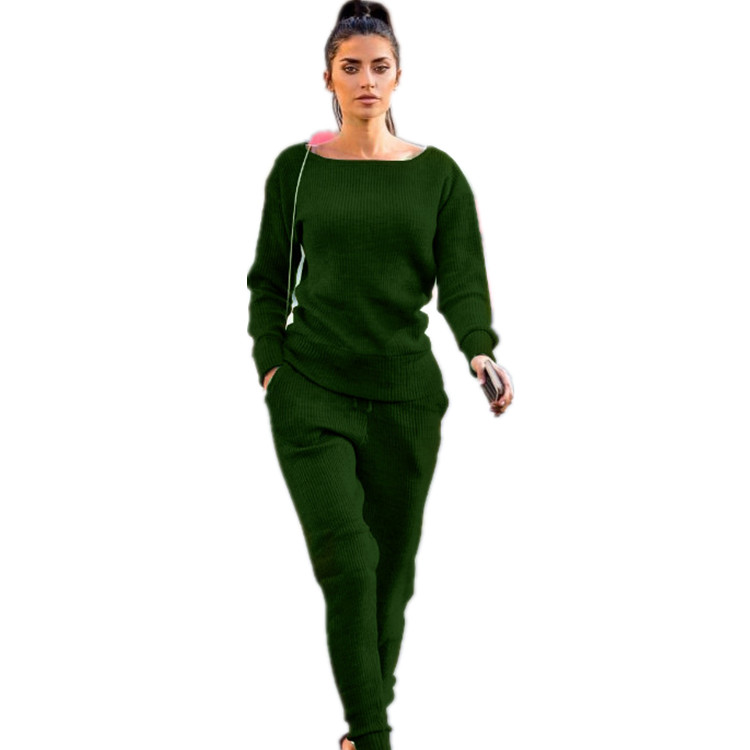 Wholesale Sports Suit Women Two Piece Set Sweat Top And Pants Tracksuit