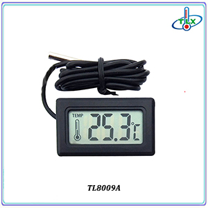 New Design Digital Round Shape Thermometer Hygrometer with LCD Display in ABS Material