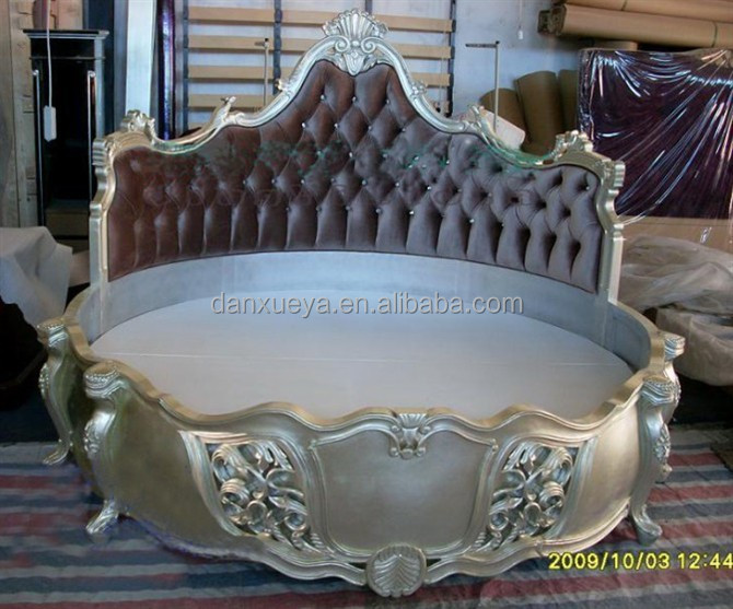 Alibaba Wooden Carved Round Bed Antique Bedroom King Size Round Bed On Sale Buy Teak Wood King