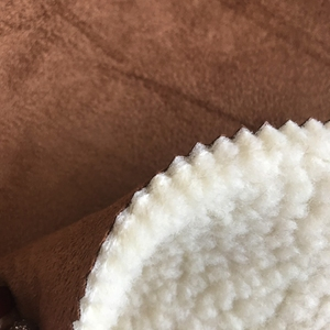 classical polyester suede +sponge+ sherpa fabric for shoes