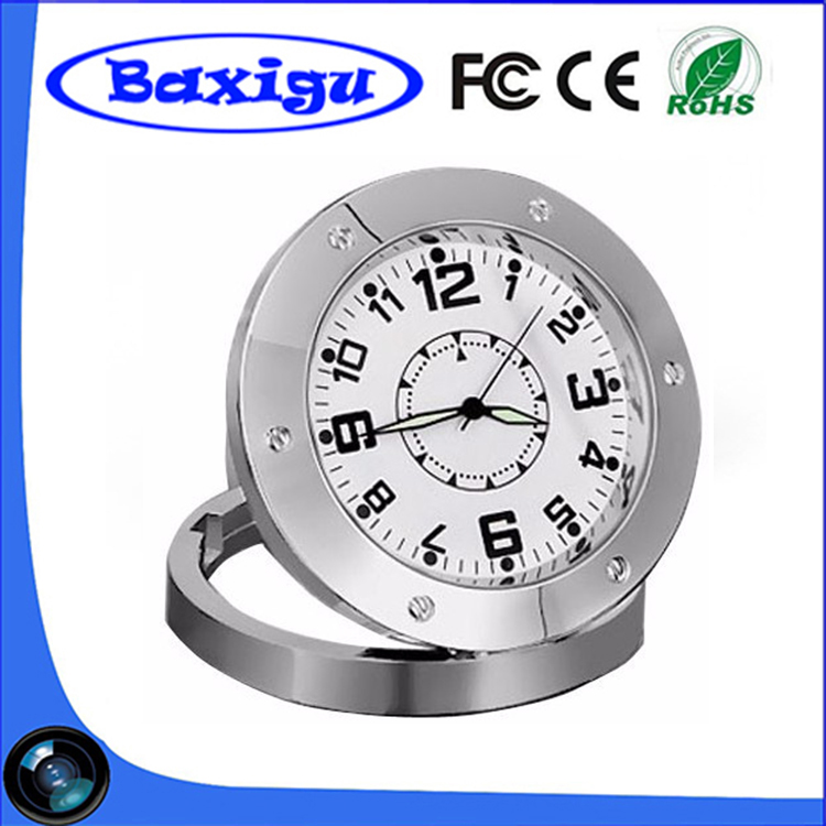 2017 Newest Hot selling Multifunctional DVR 520 Spy Camera Clock Spy Covert Camera Alarm Clock DVR Round Table Desk Clock Camera