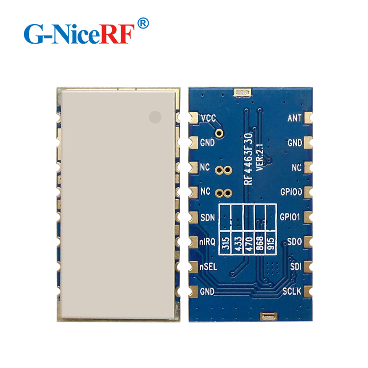 G-NiceRF RF4463F30 - 3km long range 1W 433mhz / 470mhz FSK modulation Si4463 chip RF <strong>module</strong>