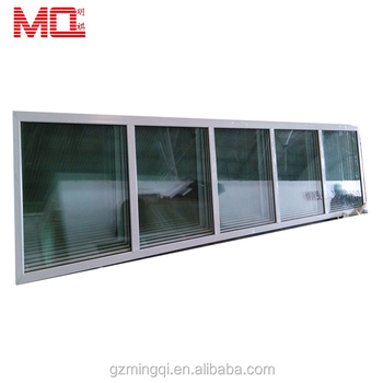 Aluminum double glazing storm fixed glass windows