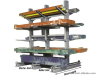 RH-HPD Double Side Warehouse Cantilever Rack