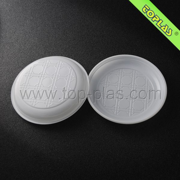 6inch One Time Use Plastic Round Fast Food Plates