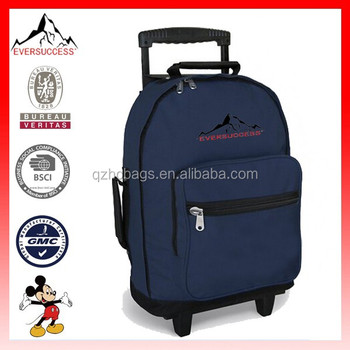 Rolling Backpack Wheeled Travel Or School Carry On Cute Kids Trolley Bag