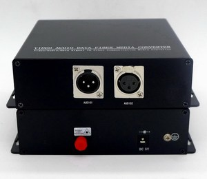 1 CH broadcast BIDI Balanced Audio XLR to Fiber Optical transmitter and receiver for professinal AV/Broadcasting system