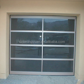 Anodized Aluminum Frame Frosted Glass Garage Door Window Panels
